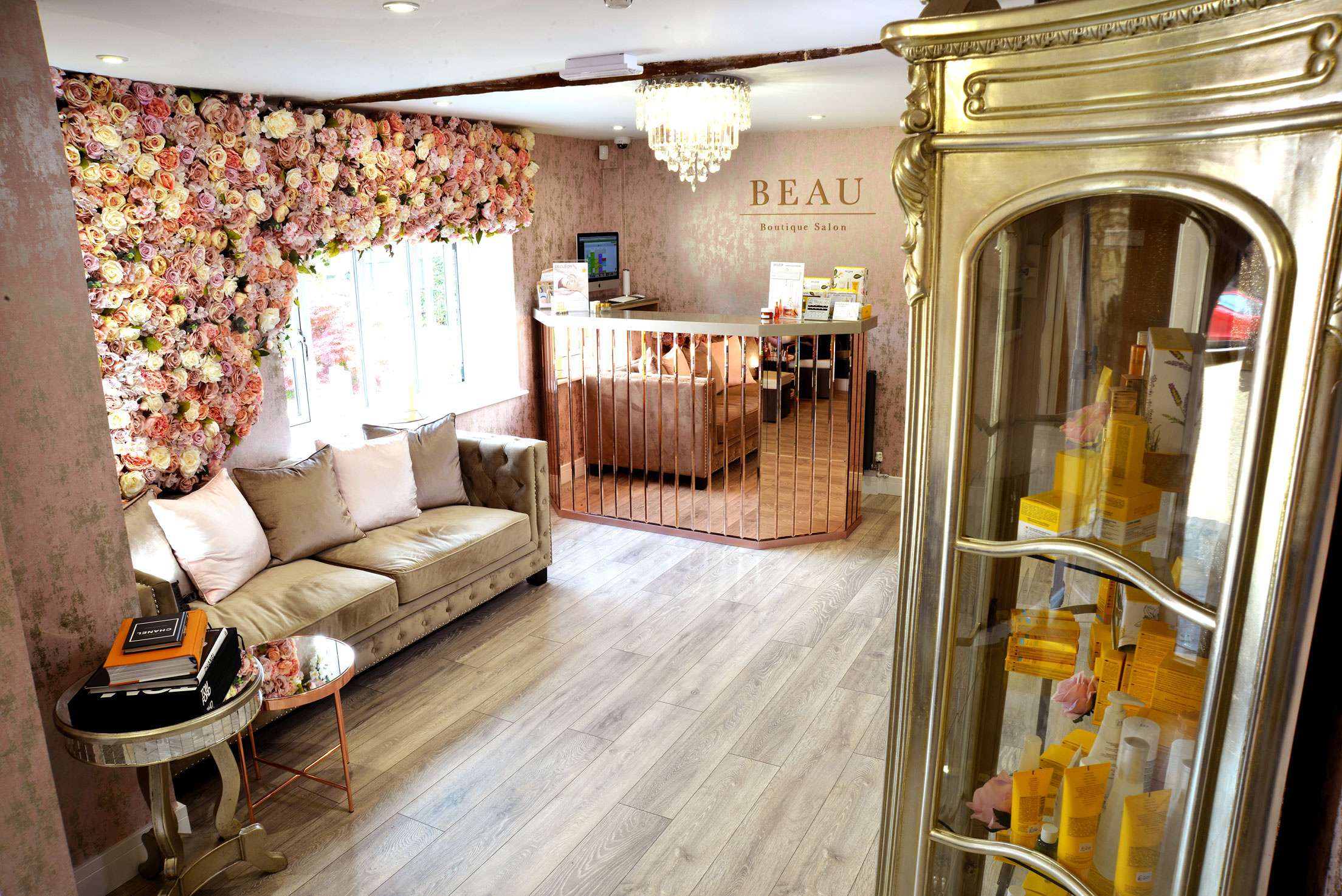 Beau Boutique Salon Reception Waiting Area